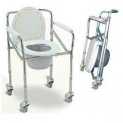 Silla ayuda sanitaria, silla baño con rodachines
