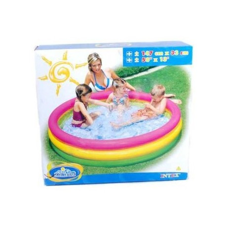 Piscina Inflable Intex 1.47 Mt Piso Acolchado