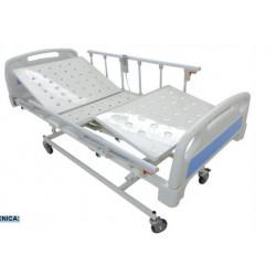 Cama Hospitalaria Eléctrica en ABS con Barandas, 3 Funciones