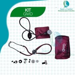 Kit Tensiometro y Fonendoscopio rapapport profesional, con repuestos y estuche.
