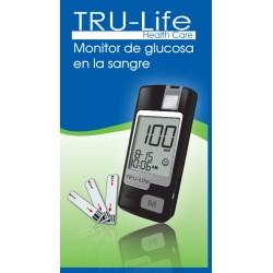 Glucometro Tru Life + 60 tiras + 60 lancetaras