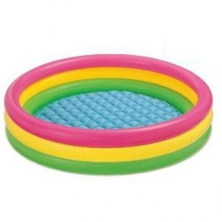 Piscina Intex Inflable 114 X 24 Cm + 100 Pelotas De Colores-Multicolor